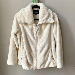Weatherproof Sherpa Fleece Full Zip White Jacket